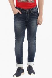 Mens Skinny Fit 5 Pocket Heavy Wash Jeans