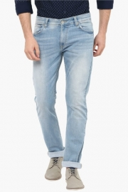Mens Slim Fit 5 Pocket Heavy Wash Jeans (rover Fit)