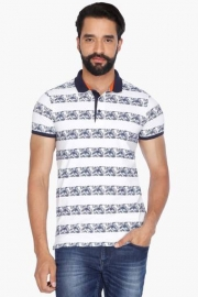 Mens Short Sleeves Printed Polo T-shirt