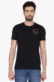 Mens Short Sleeves Round Neck Solid T-shirt