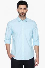 Pe Pe Mens Regular Collar Dotted Shirt