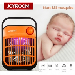 Joyroom Cy102 Uv Led Lamp High Voltage Electric Insect Mosquito Killer - Black Yellow