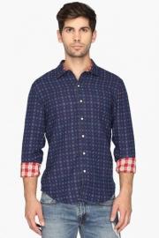 Mens Regular Fit Printed Reversible Shirt
