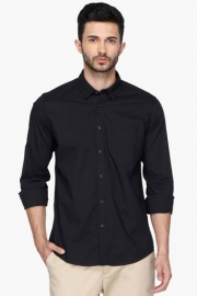 Pe Pe Mens Regular Collar Solid Shirt