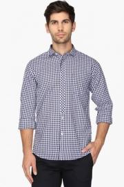 Pe Pe Mens Cutaway Collar Check Shirt