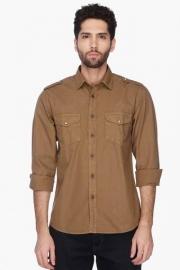 Pe Pe Mens Regular Fit Solid Shirt
