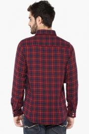 Pe Pe Mens Regular Fit Check Reversible Shirt