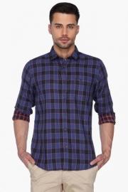 Pe Pe Mens Check Reversible Regular Collar Shirt