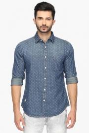 Pe Pe Mens Slim Fit Printed Shirt