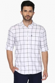 Pe Pe Mens Slim Fit Check Shirt