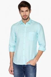 Pe Pe Mens Regular Collar Slub Shirt