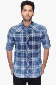 Pe Pe Mens Regular Collar Check Shirt