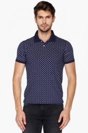 Allen Solly Mens Regular Smart Fit Printed Polo T-shirt