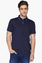 Allen Solly Mens Regular Fit Printed Polo T-shirt