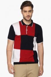Allen Solly Mens Regular Fit Colour Block Polo T-shirt