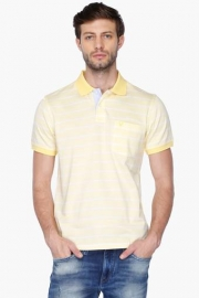 Allen Solly Mens Regular Fit Stripe Polo T-shirt
