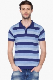f4bf7f82 Allen Solly Mens Regular Fit Stripe Polo T-shirt