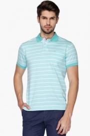 Allen Solly Mens Regular Fit Stripe Polo T-shirt