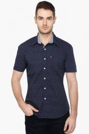 Mens Half Sleeves Casual Printed Shirt