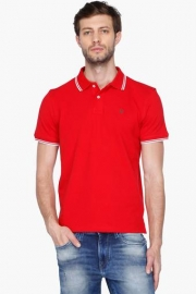 Allen Solly Mens Regular Fit Solid Polo T-shirt