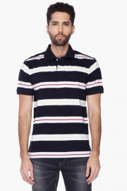 Allen Solly Mens Stripe Polo T-shirt