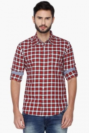 Mens Full Sleeves Casual Check Shirt