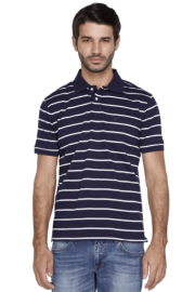 Allen Solly Mens Short Sleeves Slim Fit Stripe Polo T-shirt