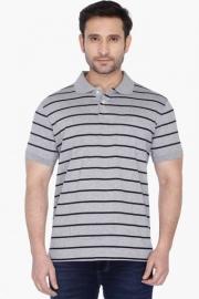 Allen Solly Mens Short Sleeves Slim Fit Stripe Polo T-shirt