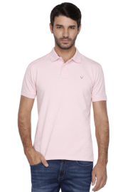 Allen Solly Mens Short Sleeves Slim Fit Solid Polo T-shirt