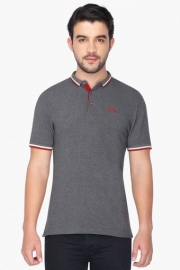 Mens Short Sleeves Slub Polo T-shirt