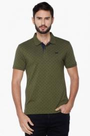 Mens Short Sleeves Printed Polo T-shirt