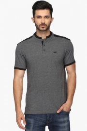 Mens Regular Fit Slub Polo T-shirt