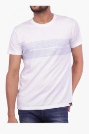 Mens Short Sleeves Round Neck Printed T-shirt
