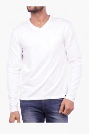 Mens Full Sleeves V Neck Solid T-shirt (rock Fit)