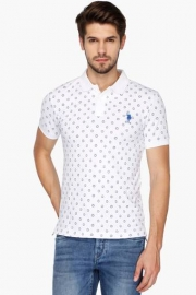 U.s. Polo  Mens Regular Fit Printed Polo T-shirt]