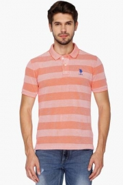 U.s. Polo  Mens Regular Fit Stripe Polo T-shirt