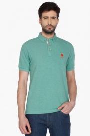 U.s. Polo Mens Short Sleeves Slub Polo T-shirt