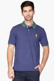 U.s. Polo  Mens Slim Fit Slub Polo T-shirt