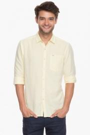 Mens Full Sleeves Slim Fit Casual Slub Shirt