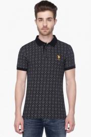U.s. Polo Mens Short Sleeves Printed Polo T-shirt