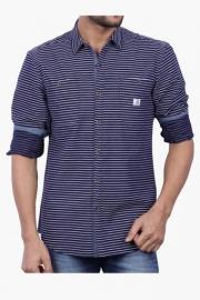 Mens Full Sleeves Casual Stripe Shirt (charlie Fit)