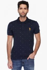 U.s. Polo Mens Slim Fit Printed Polo T-shirt