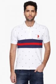 U.s. Polo Mens Slim Fit Printed Polo T-shirt