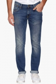 Mens Skinny Fit Heavy Wash Jeans (low Bruce Fit)