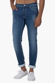 Mens 5 Pocket Skinny Fit Heavy Wash Jeans