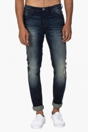 Mens 5 Pocket Skinny Fit Heavy Wash Jeans (bruce Fit)