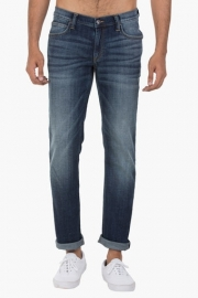 Mens 5 Pocket Skinny Fit Heavy Wash Jeans (low Bruce Fit)