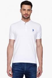 U.s. Polo Mens Slim Fit Solid Polo T-shirt