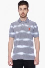 U.s. Polo Mens Short Sleeves Stripe Polo T-shirt