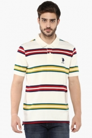 U.s. Polo Mens Slim Fit Stripe Polo T-shirt